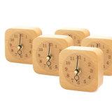 自然な木製のブナのリングのクロック目覚し時計の創造的なクロックオフィス製品の北欧のホテルの枕元創造的な鐘