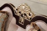Jogo de madeira Neoclassical do sofá da tela de veludo com a tabela ajustada para a mobília da sala de visitas