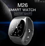 2017 montre intelligente de vente chaude M26 de Bluetooth de montre intelligente du modèle M26 de mode de qualité
