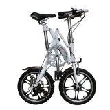 16 bici Pocket portable plegable de la bicicleta de la velocidad de la pulgada 7 mini