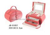Alta caja de joyería de la Serie Clase rosada