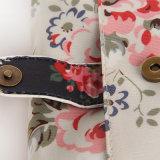 黒い花パターンは防水するPVCキャンバスの女性袋(99173-1)を