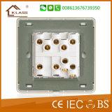 Placa ligera del interruptor de control de la nueva pared del diseño 10A 3G 2W