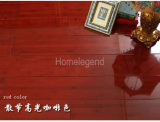 Base de bambú sólida dirigida carbonizada nudo dispersada color rojo claro del suelo HDF