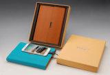 Cuaderno impreso insignia con el USB de la batería de la potencia