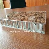 Piedra a grano PVDF 25mm recubierto de aluminio de nido de abeja de pared exterior paneles de revestimiento Ahp