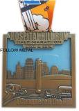 Medaglia su ordinazione di sport per l'esecuzione della collina dell'ospedale, maratona mezza, pittura trasparente