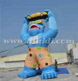 Fumetto al suolo della gorilla di promozione su ordinazione gonfiabile da vendere K2083
