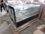 Congelador de Dukers 212L Gelato, escaparate del almacenaje de Helado con la longitud del 1.2m