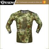 تكتيكيّ [قويك-درينغ] طويلة كم قميص قتال عسكريّة قميص تمويه