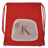 Le sac protecteur de cordon en nylon noir avec personnalisent gravent le logo en relief