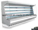 Refrigerador abierto alejado del sistema de enfriamiento del supermercado