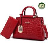 Krokodil-Art-zweiteiliger Beutel-gesetzte Handtasche mit Zubehör-Büro-Dame Satchel Bag Purse Sy8238