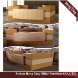 (HX-5D373) Bureau gris &#160 de compteur de réception de bureau ; Meubles de bureau modernes en bois