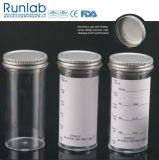 FDA registado e de amostra 150ml aprovados do CE recipientes com etiqueta do tampão e da planície do metal