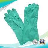 Protección de trabajo Nitrile azul guantes impermeables