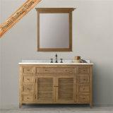 Governo di stanza da bagno di legno di rifinitura di Fed-1680b Matt di legno solido di vanità bianca della stanza da bagno