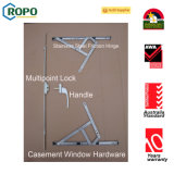 Окно Casement PVC французское с конструкцией решетки