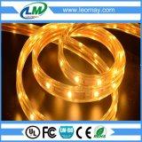 Volt elevado sob a luz flexível IP68 da corda do diodo emissor de luz do brilho da água