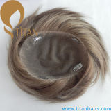 Full Hand Tied Swiss Lace Base 8 # Toupee para homens
