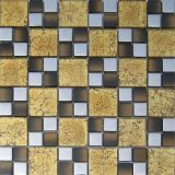 Mosaico de cristal de oro del arte del bloque del color (VMW3311)
