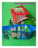 Bolso impreso plástico lateral del alimento del bolso del fertilizante de la tapa plana del escudete