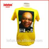 T-shirts de campagne de la verticale estampés par coutume bon marché 120g Jersey