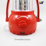 携帯電話の充電器(T7089)が付いている太陽キャンプライトLED再充電可能なランタン