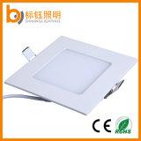 Blanc chaud suspendu carré ultra mince de plafonnier de la lampe de panneau 6W DEL