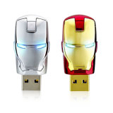 Grátis Personalizar logotipo Iron Man USB 2.0 Flash Drive