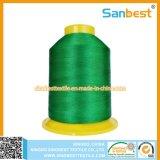 Cuerda de rosca del bordado del rayón para los cordones