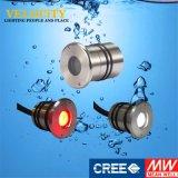 indicatore luminoso esterno subacqueo approvato di RGB LED della lampada di telecomando del Ce 1W