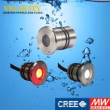 1Wセリウム公認のリモート・コントロール水中ランプRGB LED屋外ライト