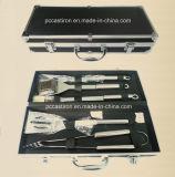 Щетка вилки ножа шпателя схвата комплекта инструментов BBQ комплекта инструментов барбекю