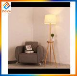 Lampe d'étage de stand du modèle DEL de couleur d'ombre de tissu pour la pièce d'étude