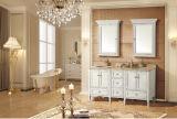 Bacia de lavagem cerâmica da mão da parte superior contrária do banheiro