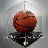Новый Acrylic витринного шкафа баскетбола с двухярусный черным основанием