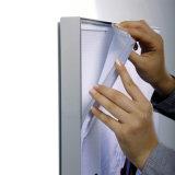 L'alluminio della visualizzazione del tessuto di Frameless profila il blocco per grafici di angolo per la bandiera