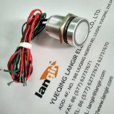 interruptor piezoeléctrico momentáneo rojo IP68 del verde (bicolor) dual del color de 16m m