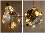 ダイヤモンドのこはく色のペンダント灯はのための屋内部屋を飾る