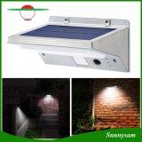 ステンレス鋼の太陽ライトデッキ、テラス、ヤード、庭のための極度の明るい21のLED無線防水動きセンサーの屋外の3つのモード太陽動力を与えられたライト