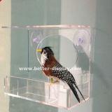 Alimentador de acrílico claro Btr-S1017 del pájaro de la ventana