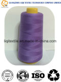 Filato cucirino bianco di alta velocità 100% e tinto grezzo 40s/2 del poliestere