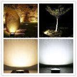 La lampadina dell'inondazione di AC85-265V di alluminio l'indicatore luminoso esterno del giardino della lampada IP67 LED del proiettore della pressofusione 10W