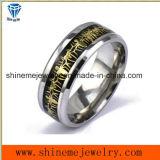 Anello inferiore blu dell'acciaio inossidabile di Goldedn di animazione di film dei monili di Shineme (SSR2771)