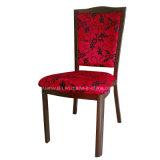 Алюминиевый красный снабженный подкладкой Farbic стул столовой трактира гостиницы (JY-R03)