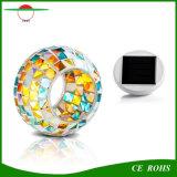 홈과 축제 선물을%s 테이블 램프가 옥외 방수 태양 강화한 색깔 변화 밤 가벼운 모자이크 유리제 공에 의하여 LED 점화한다