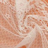 Weißes gesticktes Tulle-Spitze-Gewebe-Guipurespitze-Spitze-Brautgewebe