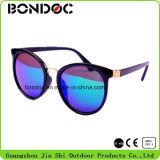 Forma agradável dos óculos de sol do metal do projeto para mulheres