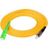 fibra óptica Multimode Patchcord da única modalidade Sx/Dx LSZH/PVC do St FC do Sc de 0.2dB LC